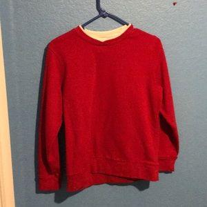Red Laura Scott cotton sweater